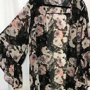 Long Floral Women's kimono